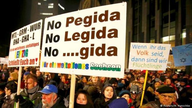 بالصور: رفض ألماني شعبي لحركتي بيغيدا وليغيدا المعادية للإسلام