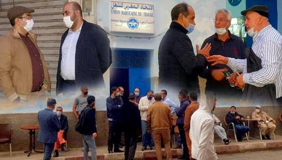 القيادة الوطنية للاتحاد المغربي للشغل تحل بالناظور استعدادا لاختار خلف لبوجيدة