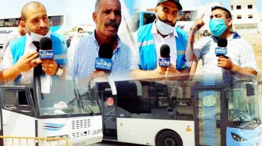 """شاهد تصريحات الطرفين.. حافلات """"فكتاليا"""" تُحاصر حافلات """"الأخوين"""" بطريق أزغنغان والشرطة تتدخل"""