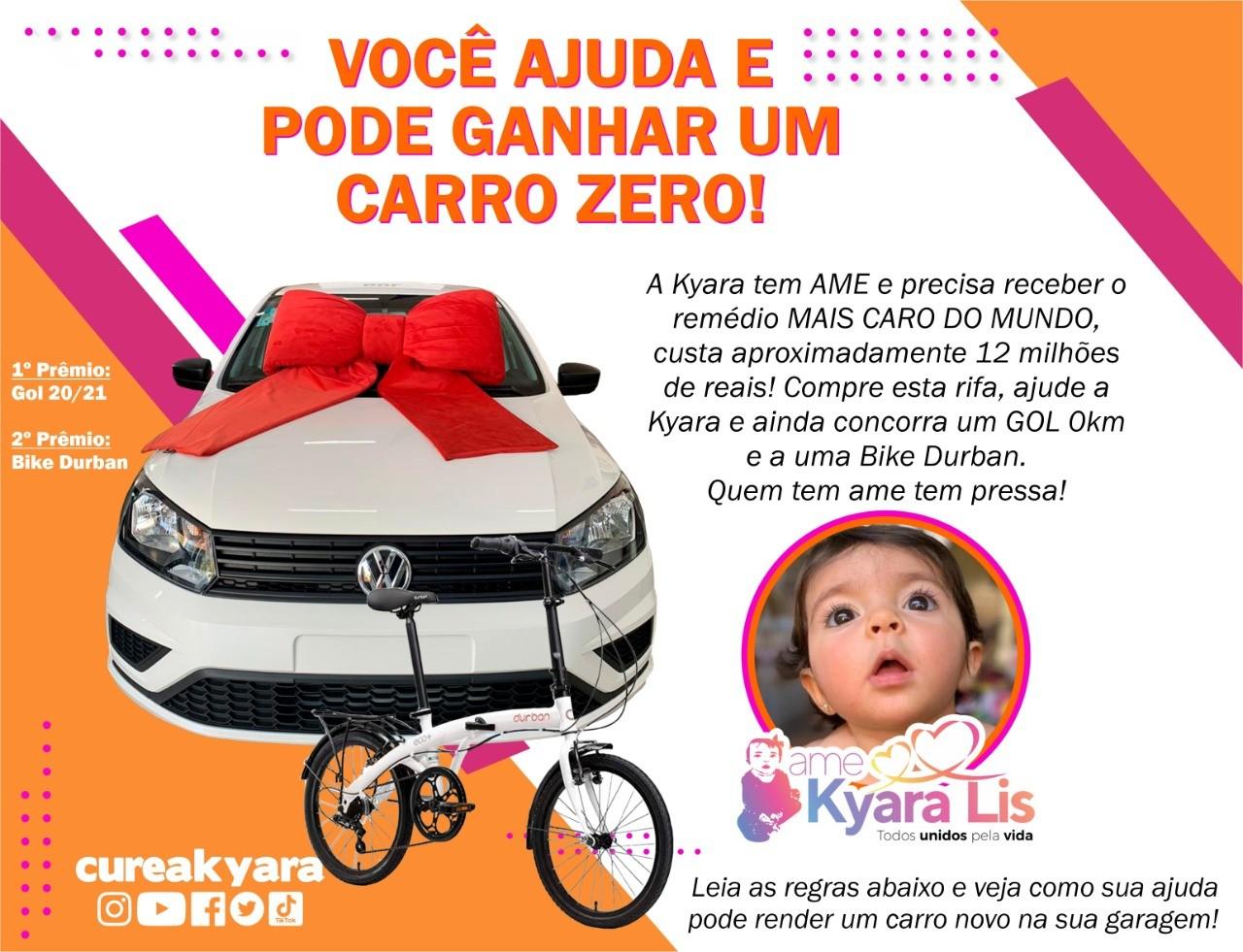 Foto  - @cureakyara - Carro e bicicleta