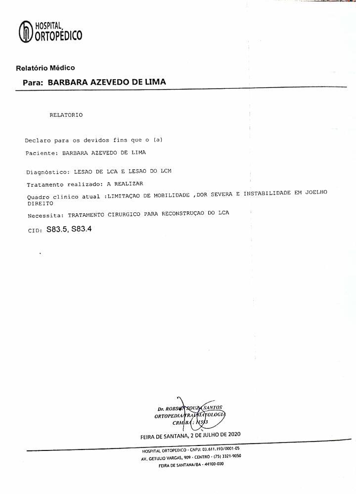 Foto  - [FINALIZADA] CIRURGIA PARA COACH BÁRBARA LIMA