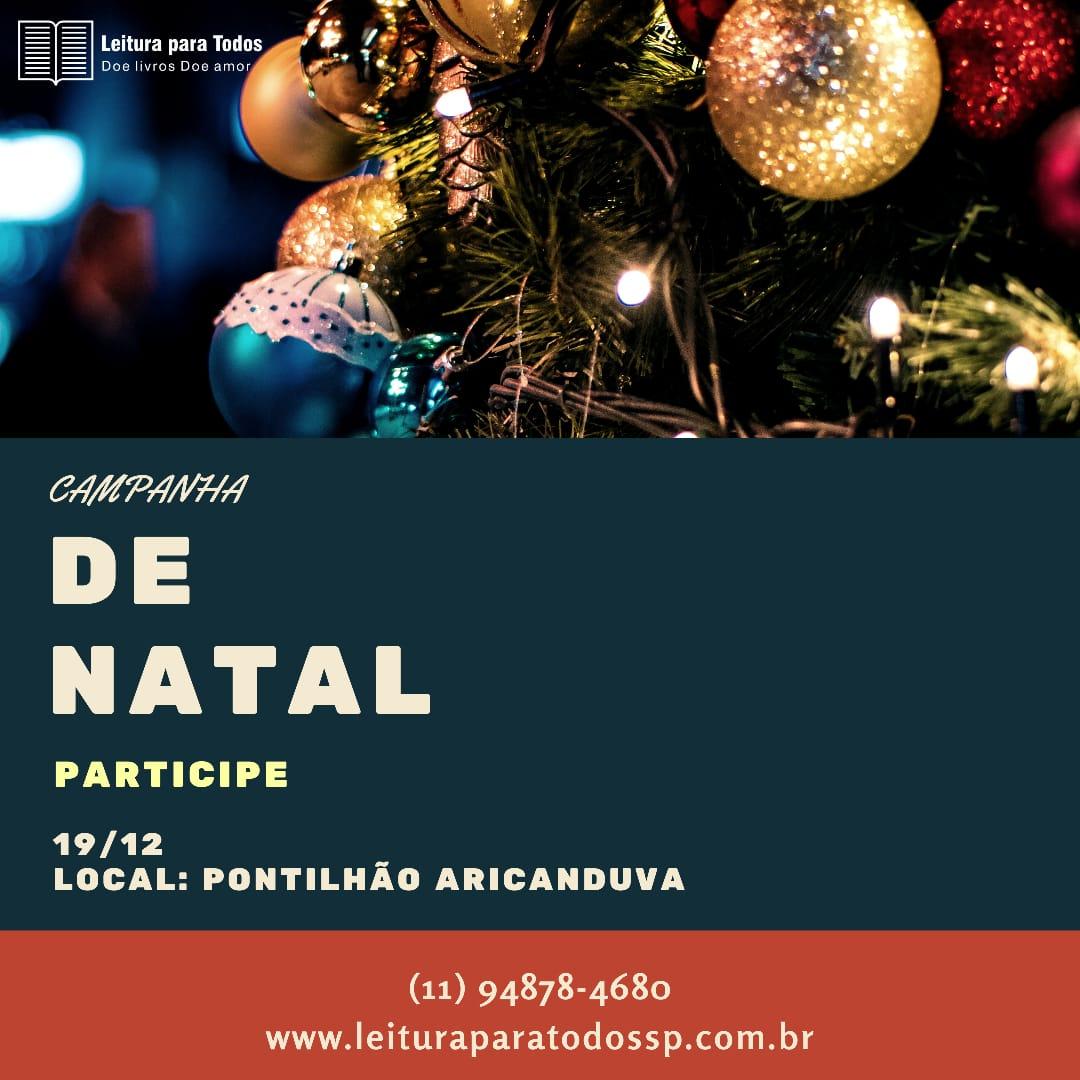 Foto  - Ação de Natal - Projeto Leitura para todos SP