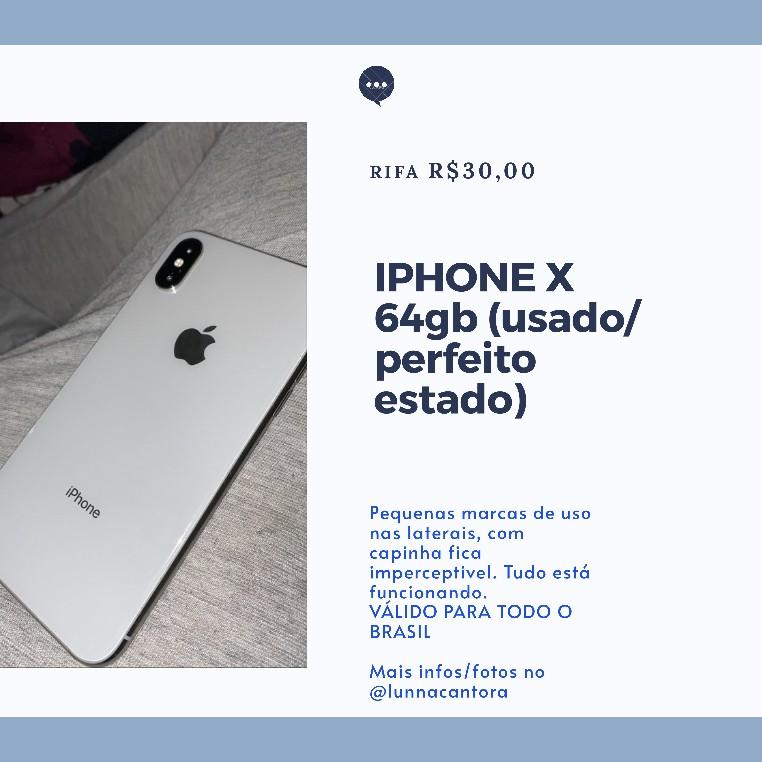 Foto  - RIFA IPHONE X ME AJUDEM A SALVAR MINHA MÃE