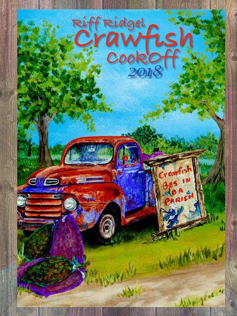 Riff Ridgel Crawfish Cookoff 2018 Poster
