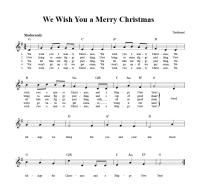 Christmas Chords.We Wish You A Merry Christmas Sheet Music And Lyrics We