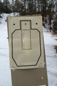 CSAT standards on a CSAT target with a Glock 36