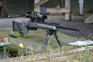 Our custom 308 rifle on the firing line.
