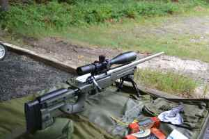 """The 28"""" barrel is quite long, velocity of Federal 69 grain Gold Medal was 2920 fps and Asym 75 was 2887 fps."""