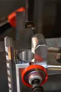 We finish the barrel hole with a boring bar.  As we reach the target diameter, we take lighter cuts to ensure a smooth finish.