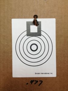 5 rounds of 168 SMK at 100 yards.