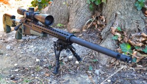 Customized Remington 700 chambered in 243 Winchester.