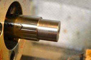 The barrel tenon is cut to length and diameter.  The recoil lug should slide onto the tenon but not wiggle.