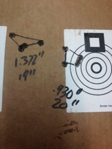 "19.25"" and 20.25"" barrel length groups."