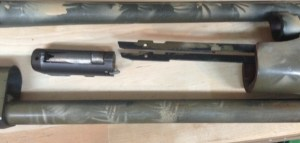 The forend and bolt can be removed,