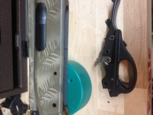 The trigger plate can be removed from the receiver.