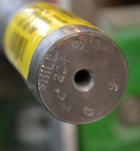 Here is our unturned Shilen stainless steel barrel blank.