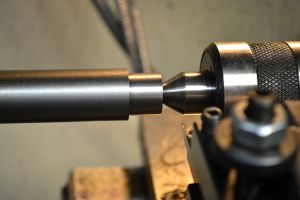 """I then cut the tenon for the barrel extension.  Most prints call for this to be .625"""" long.  I checked this against my barrel extension to ensure it would produce satisfactory results."""