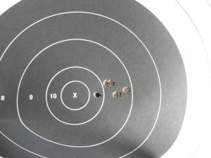 5-shot, 200 yard group 2.  80 SMK.