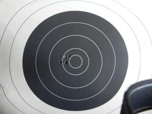 5-shot, 200 yard group 1.  80 SMK.