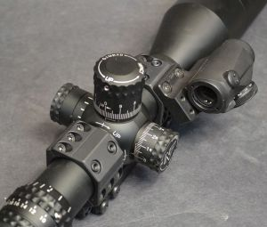The low profile of the scope rings allows the shooter easy access to scope adjustment knobs