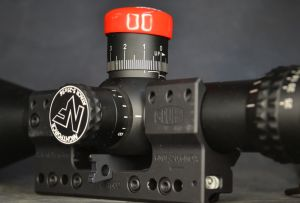 The wedge in use aligning the scope.