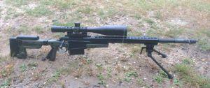 Custom 338 Lapua Magnum rifle.