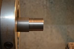 """I cut the threaded part of the tenon to major diameter of the threads (1.062"""")."""