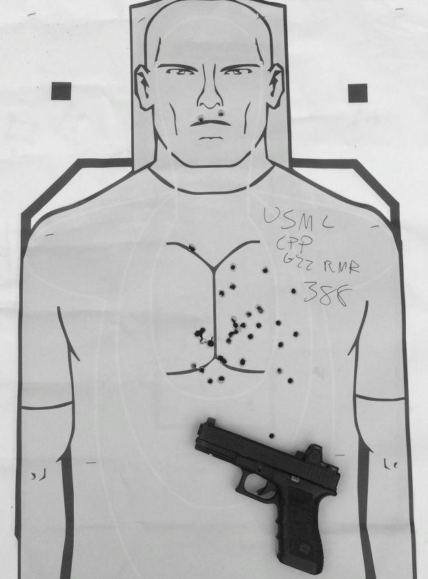 Glock 22 rmr USMC CPP target 388