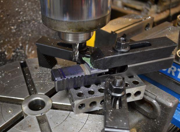 milling front radius of rmr on glock slide