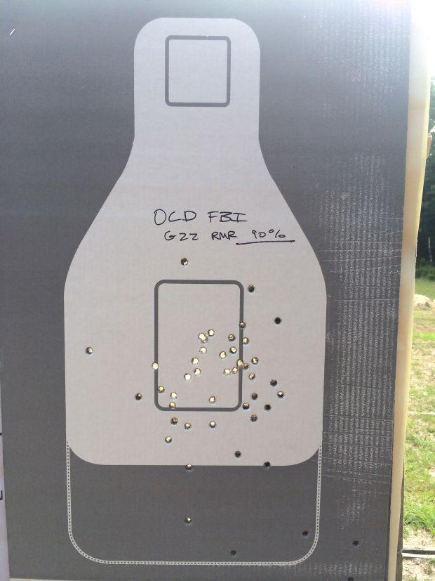 old FBI target glock 22 rmr 90 percent