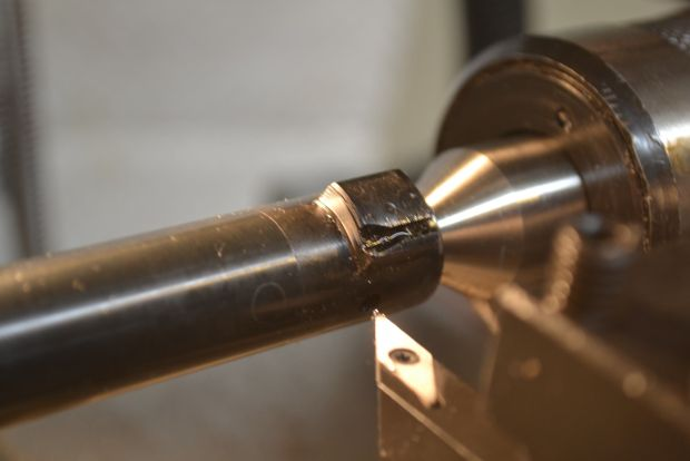 cleaning rear faces of bolt