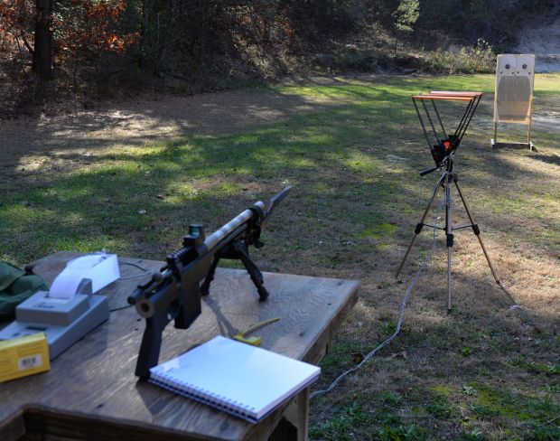 223 pistol test set up