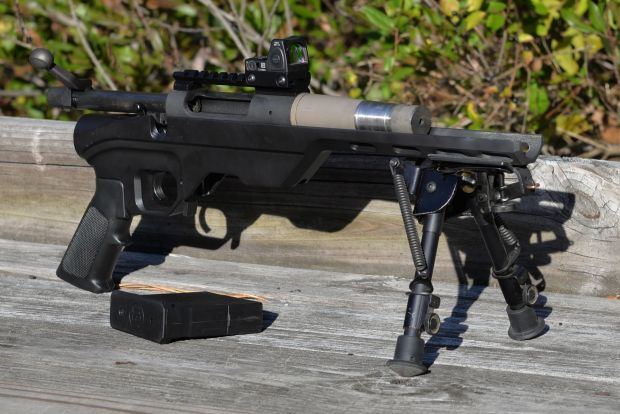 """The bolt action pistol with a 5"""" barrel."""