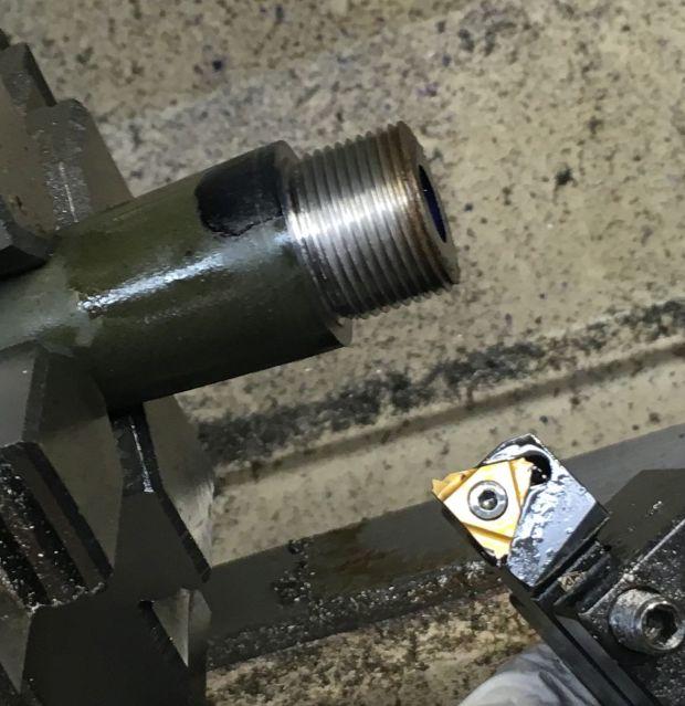 threading barrel tenon