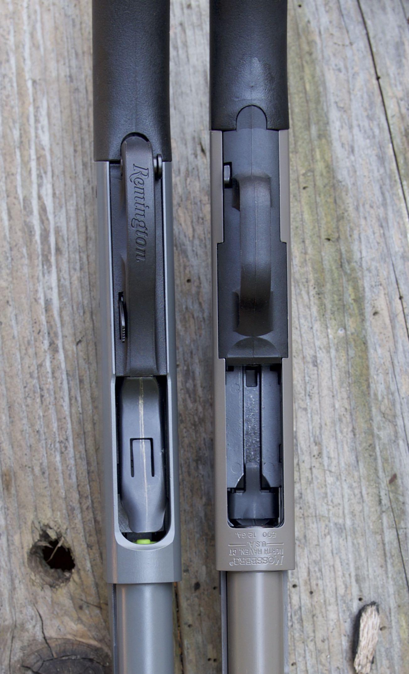 Remington 870 v Mossberg 500 v Mossberg 590: Comparative design