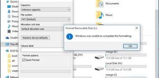 Gambar Mengatasi Unable To Complete The Format Pada Ketika Melakukan Format Drive Pada Windows