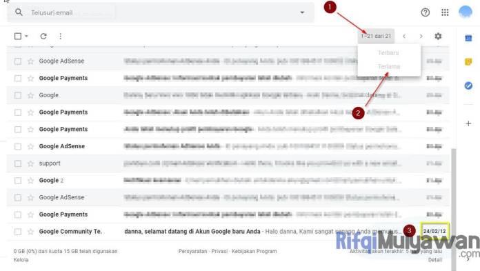 Gambar Cara Melihat Dan Menemukan Tanggal Akun Email Google Dibuat (Creation Date)