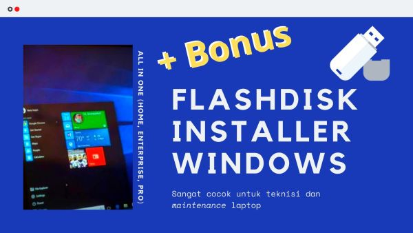 Gambar Produk USB Flashdisk Flash Drive FD Windows 10 8.1 8 Dan 7 All In One Installer 32 64 Bit Plus Microsoft Office