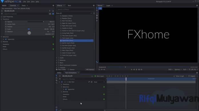 Gambar Screenshoot Aplikasi Hitfilm Pro
