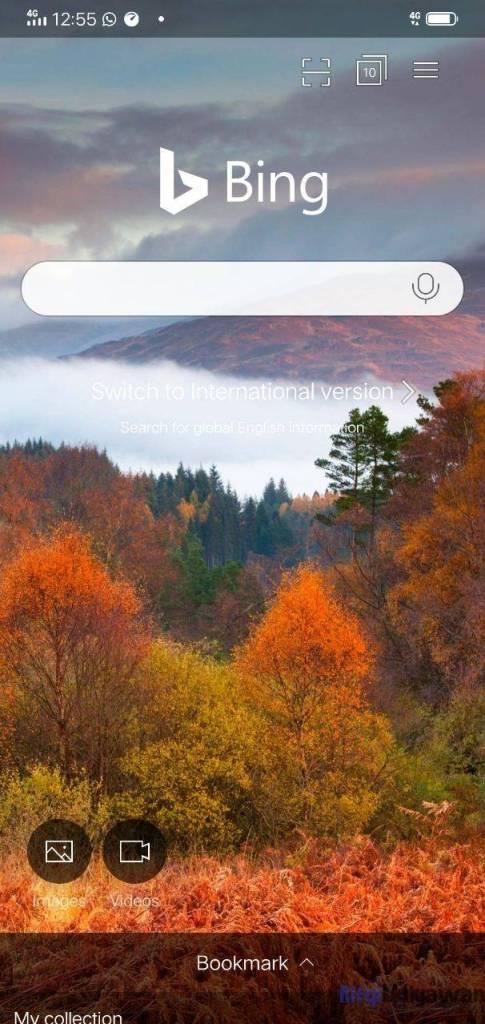 Gambar Screenshoot Aplikasi Mobile Atau Smartphone Bing Dalam Mengenal Apa Itu Pengertian Bing
