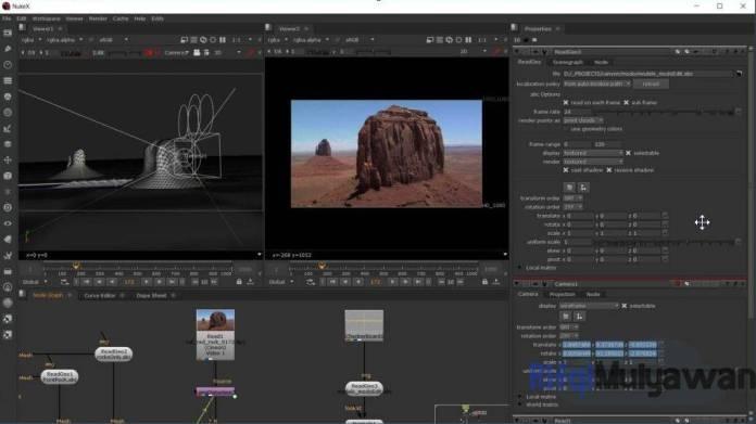 Gambar Screenshoot Aplikasi Nuke Untuk Alternatif Adobe After Effects