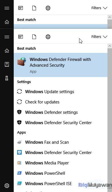 Pada Menu Buka Windows Firewall With Advanced Security Cara Mengatasi Corel Draw Viewer Mode Selamanya