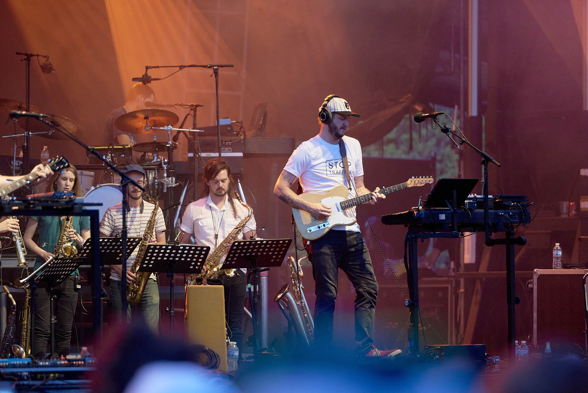 "Bon Iver at the 2017 ""Rock The Garden"" festival in Minneapolis"