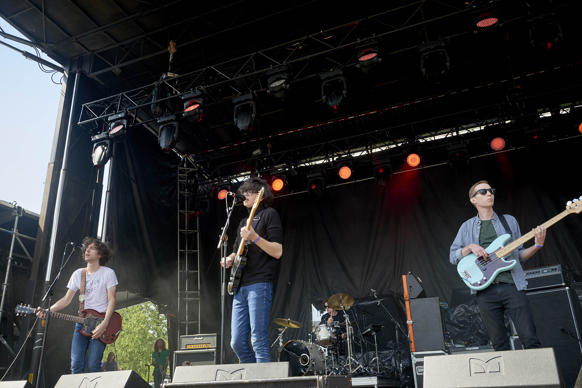 "Car Seat Headrest at the 2017 ""Rock The Garden"" festival in Minneapolis"