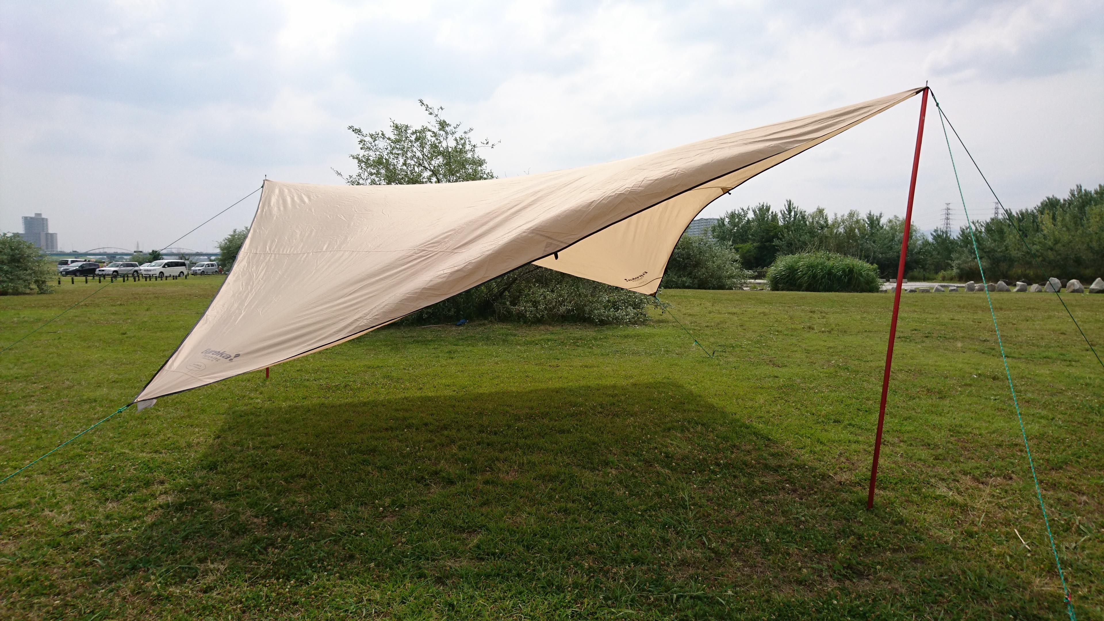 真夏の暑い日差しのキャンプにおすすめのポリコットンタープ!