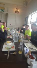 Lunch with the triathletes