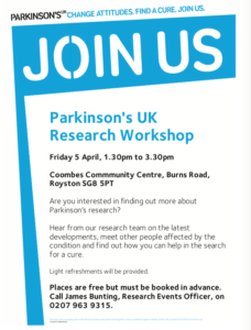 Parkinson's UK Research Workshop (5 April 2019)