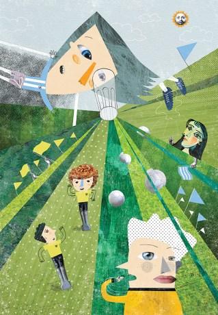Ilustración de cuento El niño del ojo de vidrio