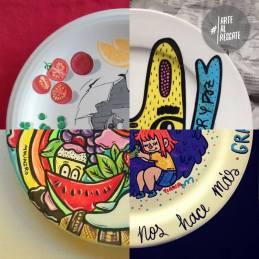 Subasta de platos #ArteAlRescate para Proyecto Plato Lleno