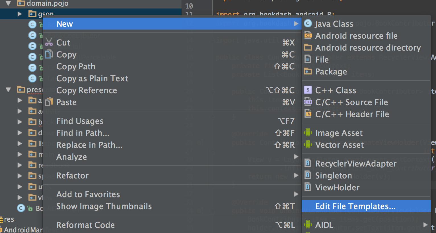 How to make your own File Templates in Android Studio - Part